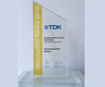 Farnell Gains Gold At TDK Awards